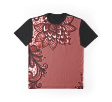 Red Lace Graphic T-Shirt