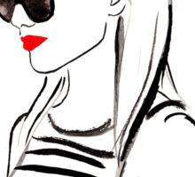 Half Up Topknot Watercolour Illustration Sticker