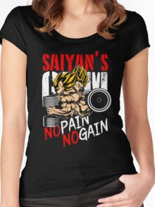 GOKU AND VEGETA - GYM OF THE SAIYANS Women's Fitted Scoop T-Shirt