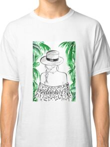 Paradise Found Watercolour Illustration Classic T-Shirt