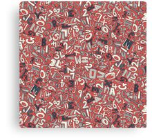 A1B2C3 CORAL RED Canvas Print