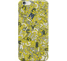 A1B2C3 CHATREUSE iPhone Case/Skin