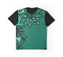 Green Lace Graphic T-Shirt