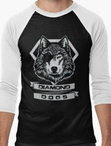 THE DIAMOND DOGS - WOLF Men's Baseball ¾ T-Shirt