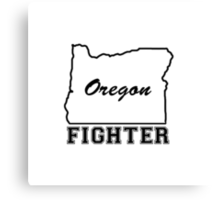OREGON FIGHTER Canvas Print