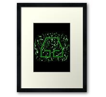 Earthbending Symbol Framed Print
