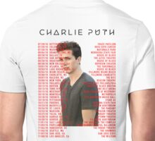 TOUR DATES 2016 FROM CHARLIE PUTH Unisex T-Shirt