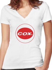 Cox vintage model engines USA Women's Fitted V-Neck T-Shirt