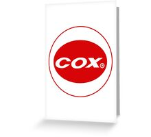 Cox vintage model engines USA Greeting Card