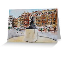 Warsaw Old Town Greeting Card