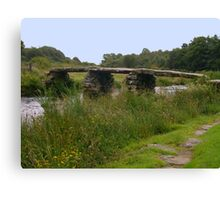 Clapper Bridge, Postbridge Canvas Print