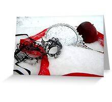 Masked Queens Snow Greeting Card
