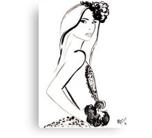 Parisian Darling Watercolour Illustration Canvas Print