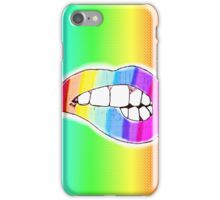 Colorful lips  iPhone Case/Skin