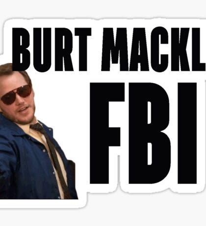 burt maclkin (w/ words) Sticker