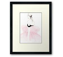 Pink Watercolour Illustration Framed Print