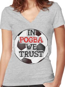 POGBA!!! Women's Fitted V-Neck T-Shirt