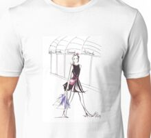 Pink Bow Watercolour Illustration Unisex T-Shirt