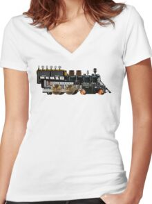 instrument train 2 Women's Fitted V-Neck T-Shirt
