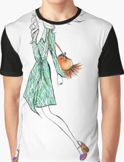 Seventies Style Watercolour Illustration Graphic T-Shirt