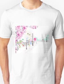 Strolling through Primrose Hill Watercolour Illustration Unisex T-Shirt