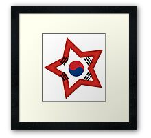 Korean Star Framed Print