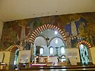 Inner City Parish Church, Pecs, Hungary, interior  by Margaret  Hyde