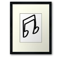 DJ Pon-3 / Vinyl Scratch Cutie Mark Framed Print