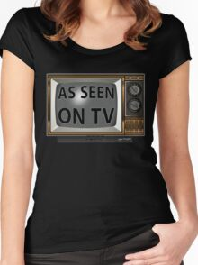 As Seen on TV Vintage  Funny Design  Women's Fitted Scoop T-Shirt