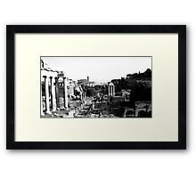 in ruins Framed Print