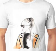 Top Ponytail Watercolour Illustration Unisex T-Shirt