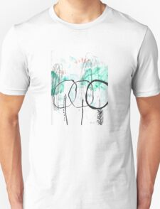 Forest Abstract Cool Cute Illustration Chill Nature Unisex T-Shirt