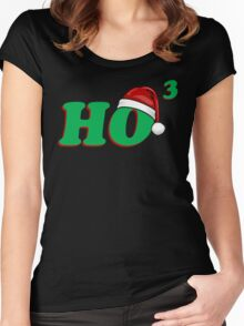 Ho 3 (Cubed) Christmas Humor Women's Fitted Scoop T-Shirt