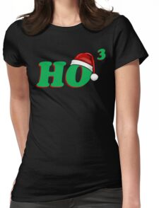 Ho 3 (Cubed) Christmas Humor Womens Fitted T-Shirt