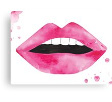 Lips Watercolour Illustration Canvas Print