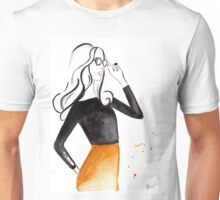 Retro Waves Watercolour Illustration Unisex T-Shirt