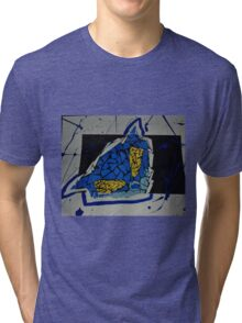 Collaging Characters Tri-blend T-Shirt