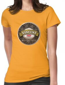 The Vincent Motorcycle England Womens Fitted T-Shirt