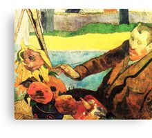 Portrait of Van Gogh by Paul Gauguin Canvas Print
