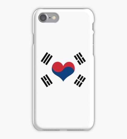 Korean Flag Heart iPhone Case/Skin