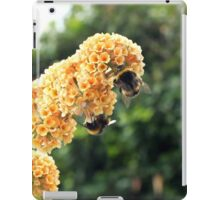 Yellow buddleia and bumble bees iPad Case/Skin