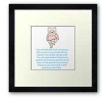 Baby Finn - Adventure Time Framed Print