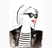 Parisian Stripes Watercolour Illustration Unisex T-Shirt