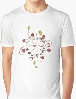 Cute Flowers Abstract Chill Relaxing Art Cool Graphic T-Shirt