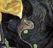Portrait of Dr. Gachet by Vincent Van Gogh Sticker