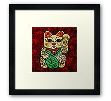 'Shiny Lucky Cat' Framed Print