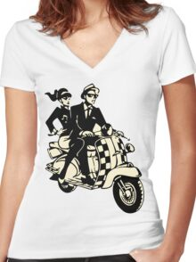 RUDE BOY SKA Women's Fitted V-Neck T-Shirt