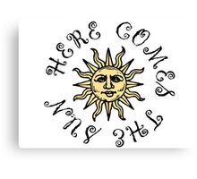 Here Comes The Sun The Beatles Song Lyrics Quotes Canvas Print