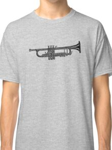 Happy jazz trumpet sketch Classic T-Shirt