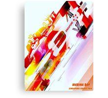 """SINGAPORE MARINA BAY"" Grand Prix Auto Racing Print Canvas Print"